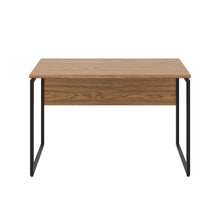 Load image into Gallery viewer, Oak Milton desk, black frame, front view