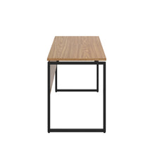 Load image into Gallery viewer, Oak Milton desk, black frame, side view