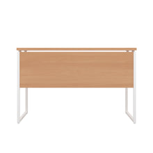 Load image into Gallery viewer, Beech Milton desk, white frame, back view