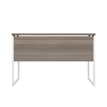 Load image into Gallery viewer, Grey Oak Milton desk, white frame, back view