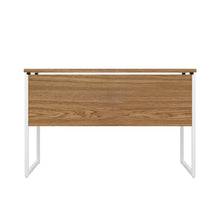 Load image into Gallery viewer, Oak Milton desk, white frame, back view