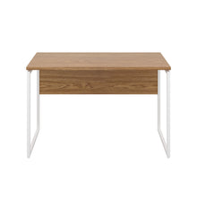 Load image into Gallery viewer, Oak Milton desk, white frame, front view