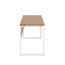 Load image into Gallery viewer, Oak Milton desk, white frame, side view