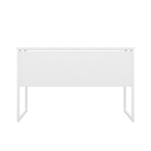 Load image into Gallery viewer, White Milton desk, white frame, back view
