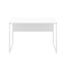 Load image into Gallery viewer, White Milton desk, white frame, front view
