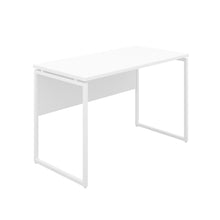 Load image into Gallery viewer, White Milton desk, white frame, front angle view