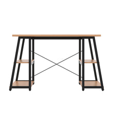 Load image into Gallery viewer, Beech Odell desk with black frame, back view