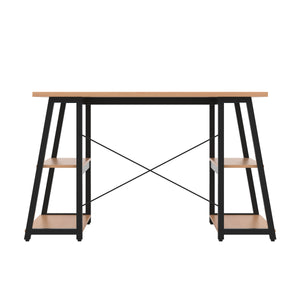Beech Odell desk with black frame, back view