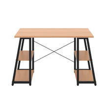 Load image into Gallery viewer, Beech Odell desk with black frame, front view