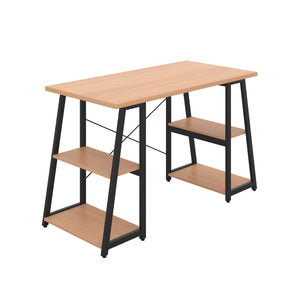 Beech Odell desk with black frame, front angle view
