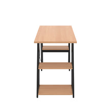 Load image into Gallery viewer, Beech Odell desk with black frame, side view