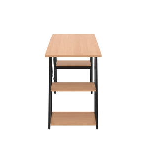 Beech Odell desk with black frame, side view