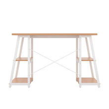 Load image into Gallery viewer, Beech Odell desk with white frame, back view