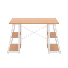Load image into Gallery viewer, Beech Odell desk with white frame, front view