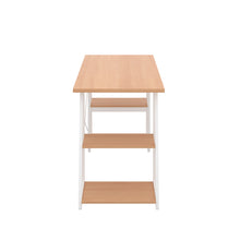 Load image into Gallery viewer, Beech Odell desk with white frame, side view
