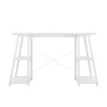 Load image into Gallery viewer, White Odell desk with white frame, back view