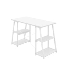 Load image into Gallery viewer, White Odell desk with white frame, back angle view