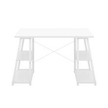 Load image into Gallery viewer, White Odell desk with white frame, front view
