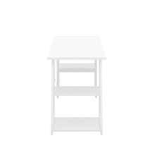 Load image into Gallery viewer, White Odell desk with white frame, side view