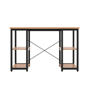 Beech Eaton Desk, Black Frame, Back View