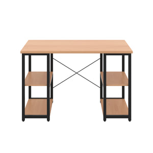 Beech Eaton Desk, Black Frame, Front View