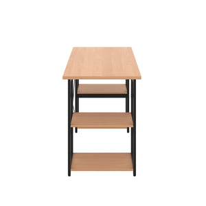 Beech Eaton Desk, Black Frame, Side View