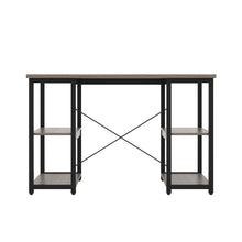 Load image into Gallery viewer, Grey Oak Eaton Desk, Black Frame, Back View