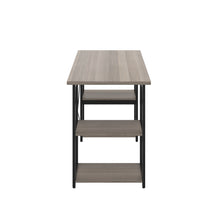 Load image into Gallery viewer, Grey Oak Eaton Desk, Black Frame, Side View