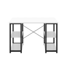 Load image into Gallery viewer, White Eaton Desk, Black Frame, Front View