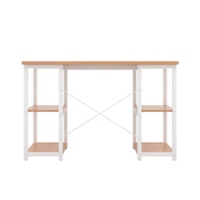 Load image into Gallery viewer, Beech Eaton Desk, White Frame, Back View