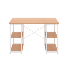 Load image into Gallery viewer, Beech Eaton Desk, White Frame, Front View