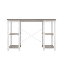 Load image into Gallery viewer, Grey Oak Eaton Desk, White Frame, Back View