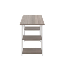 Load image into Gallery viewer, Grey Oak Eaton Desk, White Frame, Side View