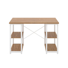 Load image into Gallery viewer, Oak Eaton Desk, White Frame, Front View
