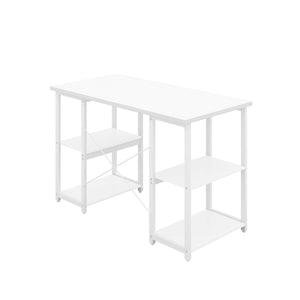 White Eaton Desk, White Frame, Back Angle View