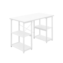 Load image into Gallery viewer, White Eaton Desk, White Frame, Front Angle View