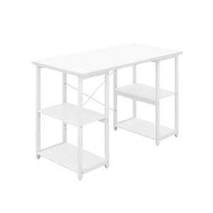 White Eaton Desk, White Frame, Front Angle View