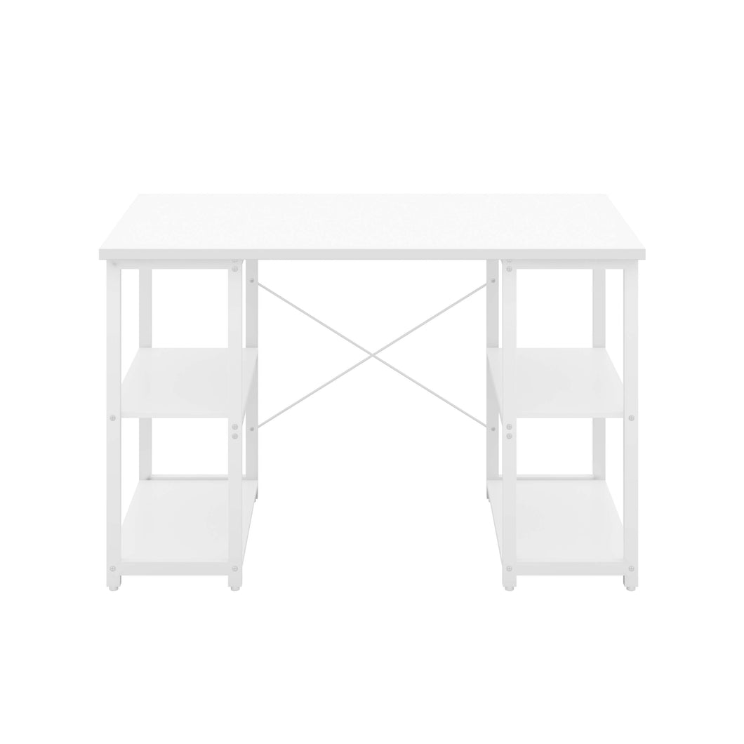 White Eaton Desk, White Frame, Front View