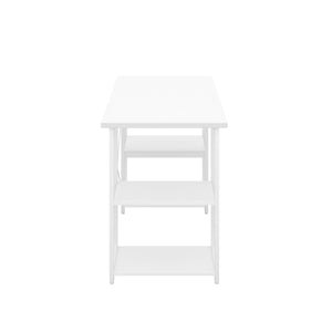 White Eaton Desk, White Frame, Side View