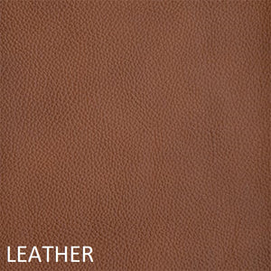 Leather work chair tan fabric