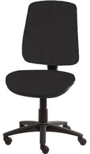 Load image into Gallery viewer, XR3 Chair, Black Base, No Arms, Black Black Faux Leather