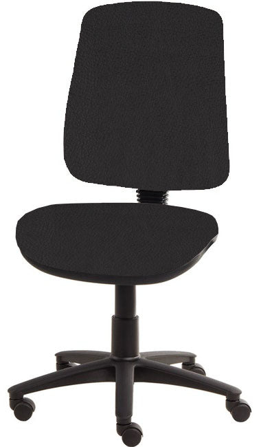 XR3 Chair, Black Base, No Arms, Black Black Faux Leather