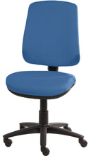 Load image into Gallery viewer, XR3 Chair, Black Base, No Arms, Blue Blue Faux Leather