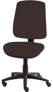 XR3 Chair, Black Base, No Arms, Brown Brown Faux Leather