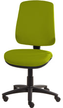 Load image into Gallery viewer, XR3 Chair, Black Base, No Arms, Lime Green Faux Leather