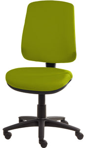 XR3 Chair, Black Base, No Arms, Lime Green Faux Leather