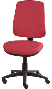 XR3 Chair, Black Base, No Arms, Red Scarlet Faux Leather