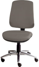 Load image into Gallery viewer, XR3 Chair, Polished Aluminium Base, No Arms, Grey Steel Faux Leather