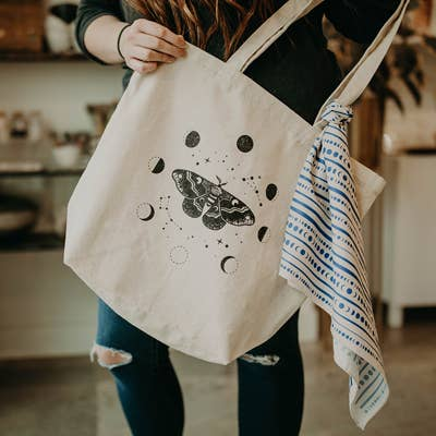 Moth & Moons Tote Bag