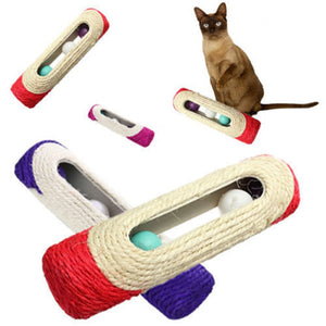 Rolling Sisal Scratching Post with Trapped Ball